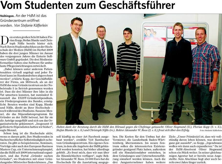 Eröffnung HDM Startupcenter Stuttgart 2011
