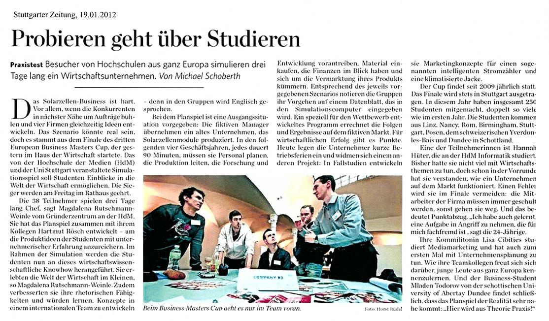 EBMC 2012 Stuttgarter Zeitung