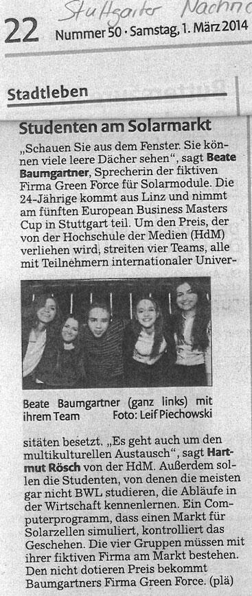 EBMC 2014 Stuttgarter Nachrichten