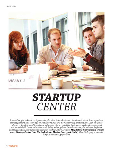 Startup Center 2015-01 Future Magazin