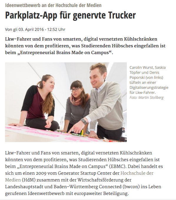 EBMC 2016 Stuttgarter Zeitung