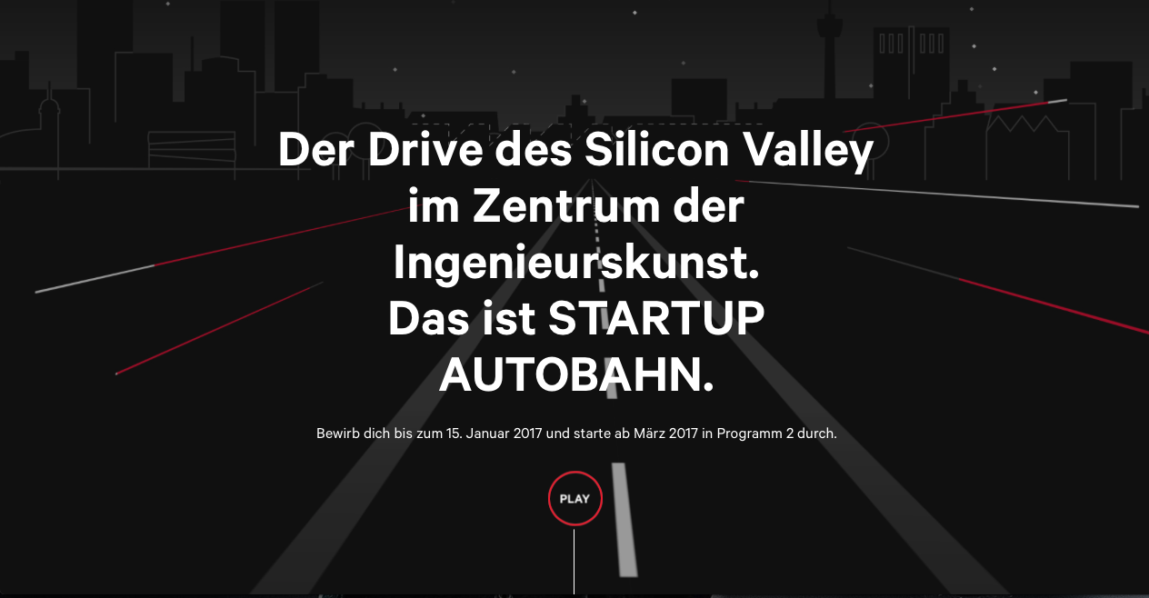 Startup Autobahn – Silicon Valley mitten in Stuttgart